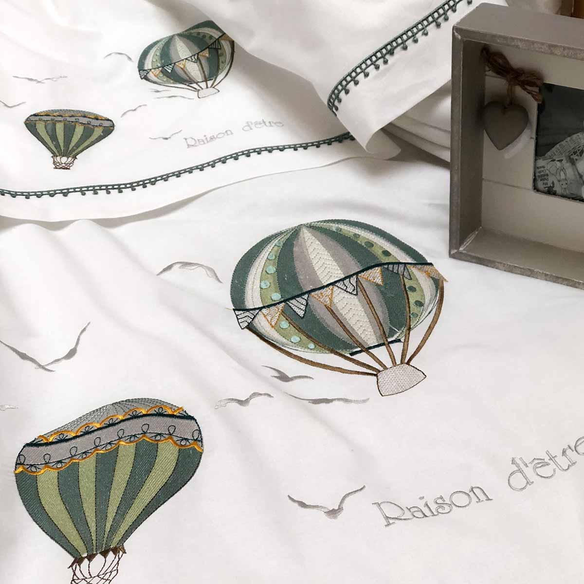 Σετ Σεντόνια Κούνιας Air Balloon Green